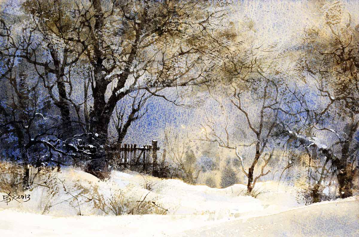 Withered Trees in Snow by Chien Chung-Wei