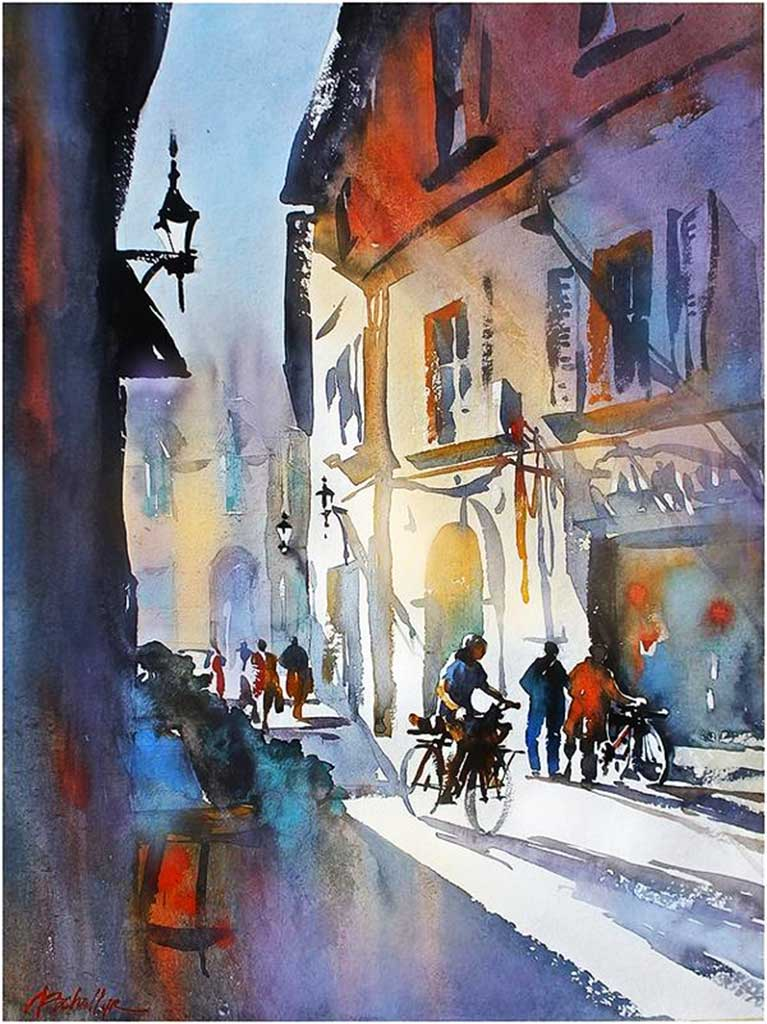 Cycling in Pisa by Thomas Schaller