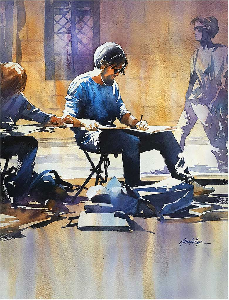 Sketching in Rome by Thomas Schaller