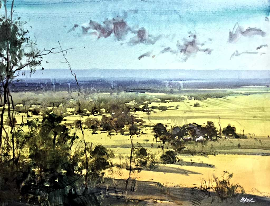 Herman Pekel watercolour Yarrow Valley