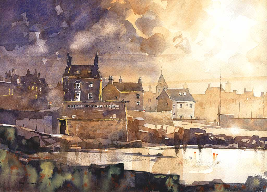Queensferry watercolor by Iain Stewart